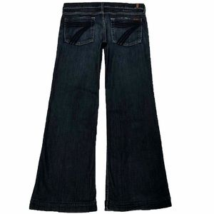 7 For All Mankind Dojo 30X31 Flare Dark Blue Jeans